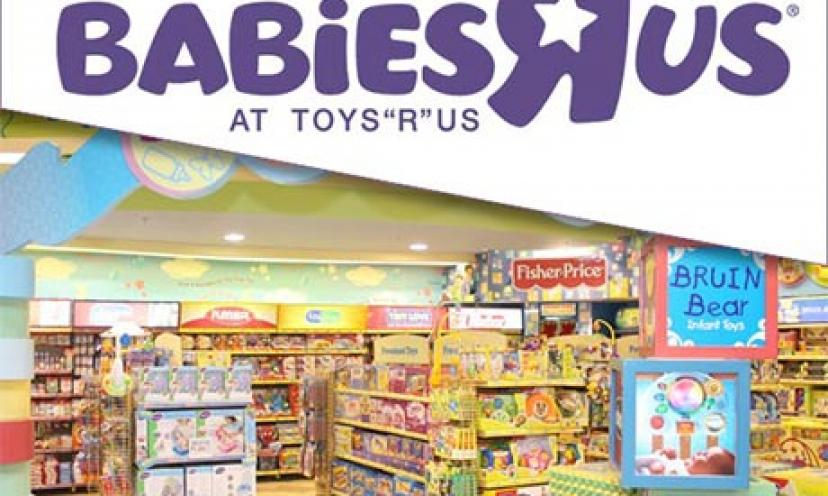 Get a Free $10 Babies R Us Gift Card!