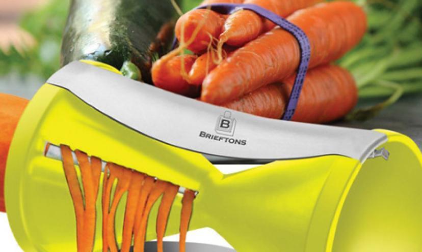 Get the Brieftons Spiral Slicer for 25% Off!
