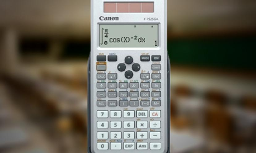 Get this Scientific Calculator from CANON for 52% Off!