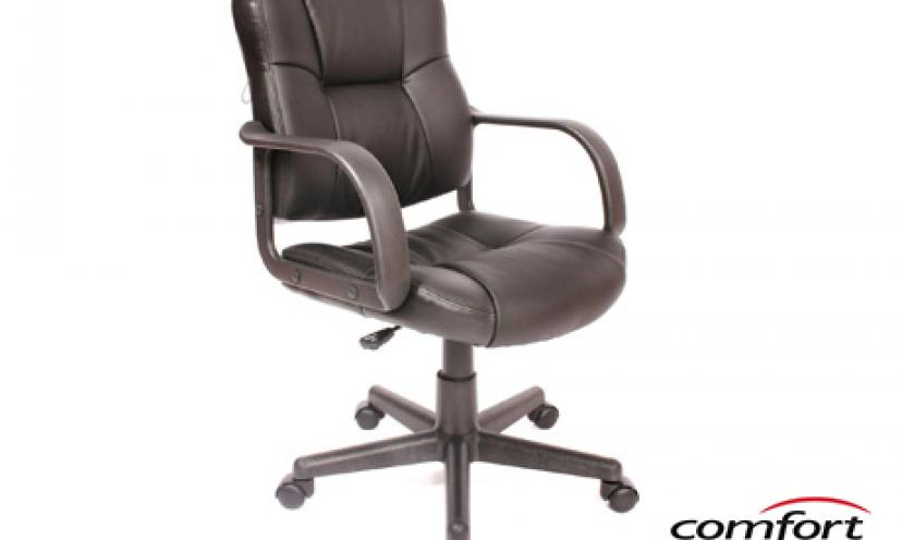 Save 18% On the Comfort Products Massage Leather Task Chair!
