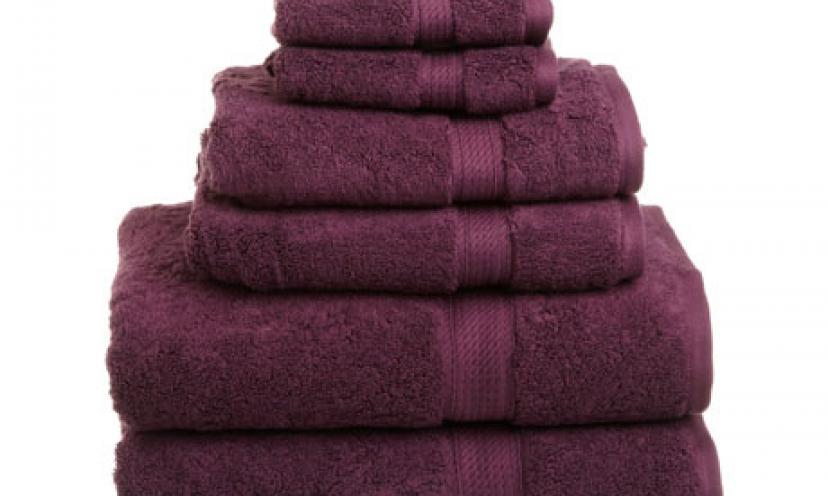 Enjoy 45% Off the Superior Egyptian Cotton 6-Piece Towel Set!