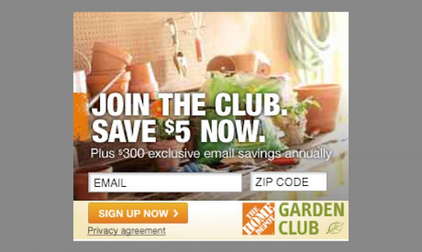 Join The Home Depot Garden Club for Awesome Info and Offers: Limited Availability!