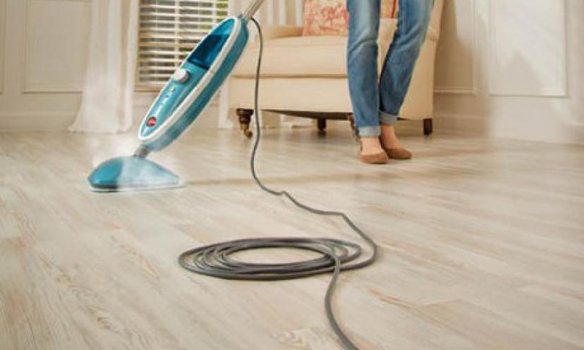 Save 50% On The Hoover Twin Tank Disinfecting Steam Mop!
