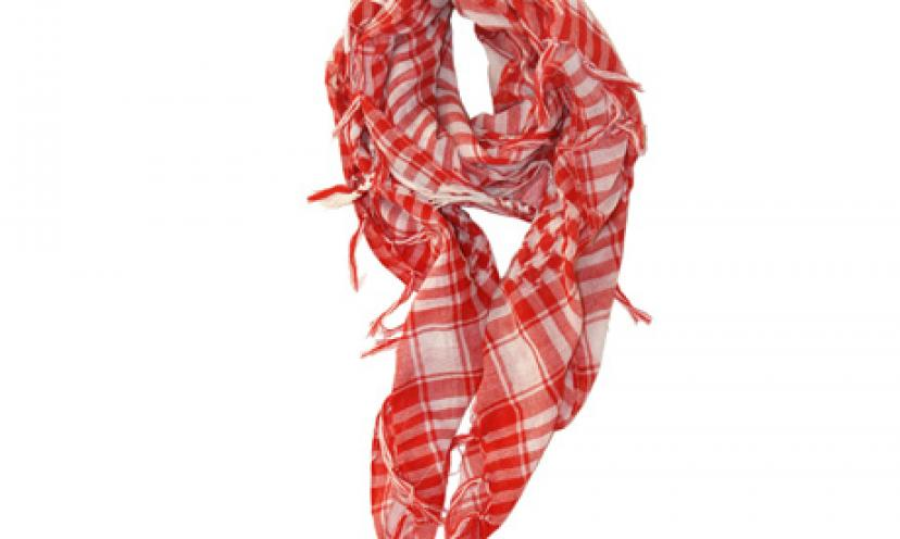 Save 70% On These LibbySue-Houndstooth Women's Scarves!