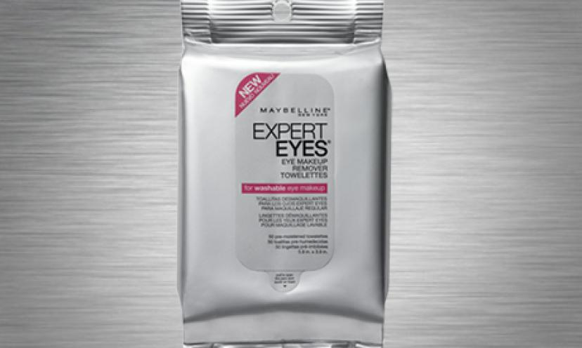 Save 50% On Maybelline Expert Eyes Eye Makeup Remover Towelettes!