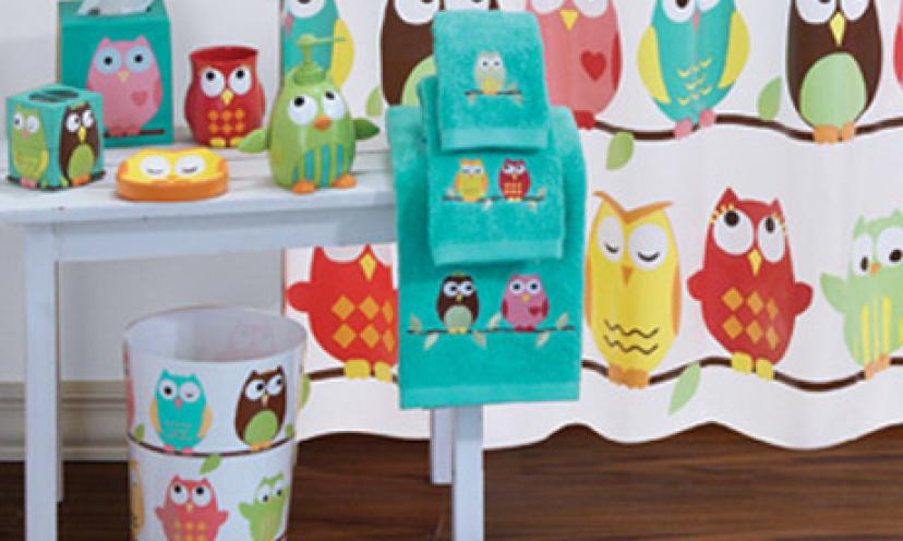 Get An Owl Shower Curtain For 63% Off!