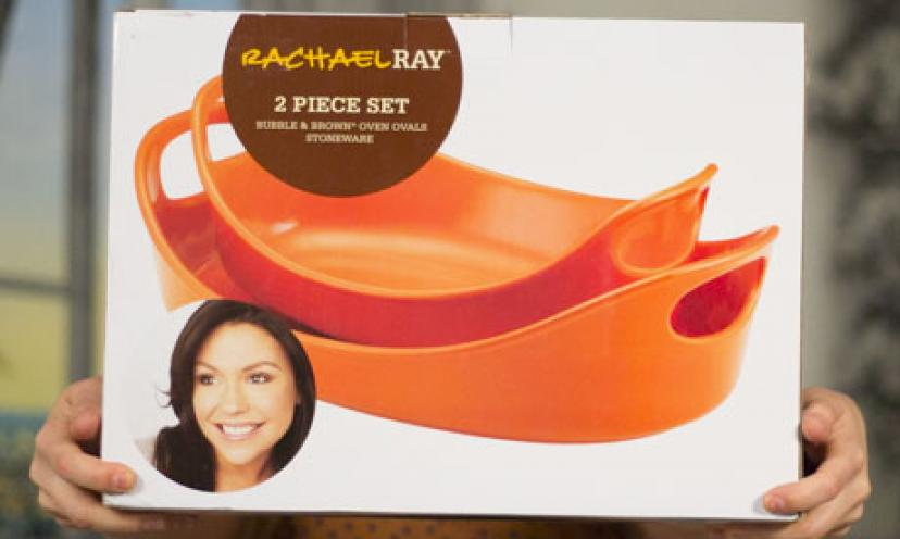Save 50% off a Rachael Ray Stoneware Baker Set!