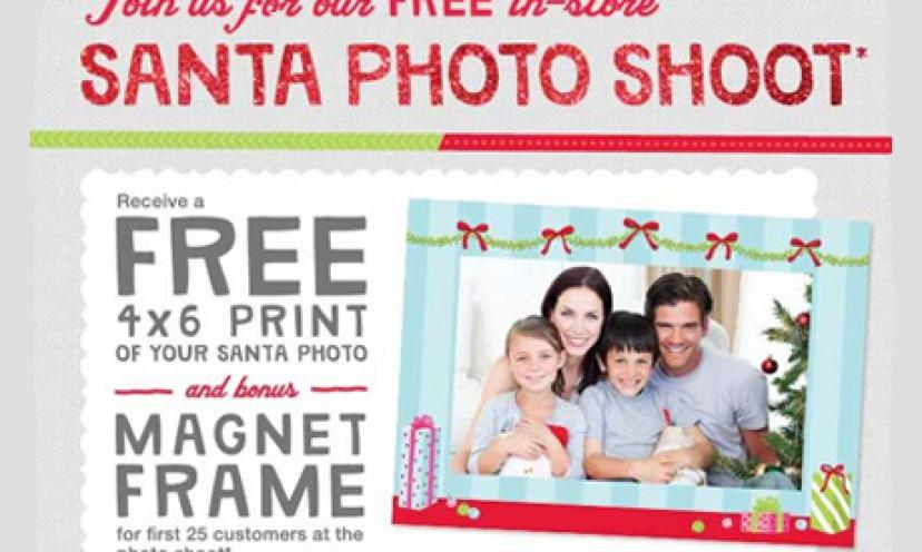 Get a free 4×6 Santa print and magnet frame from Walgreens!