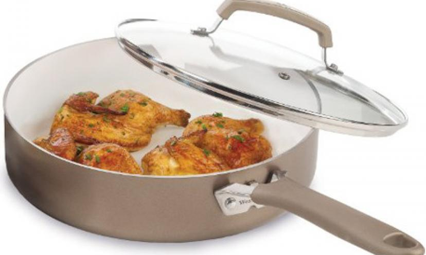 Save 63% On A 10-Piece Nonstick Ceramic Cookware Set!