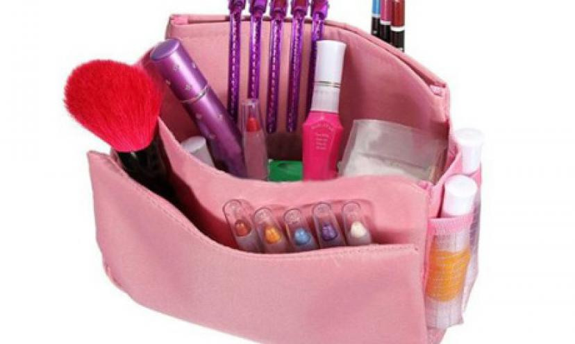 Get this Women Travel Makeup Handbag Organizer For as Low as $3.23!