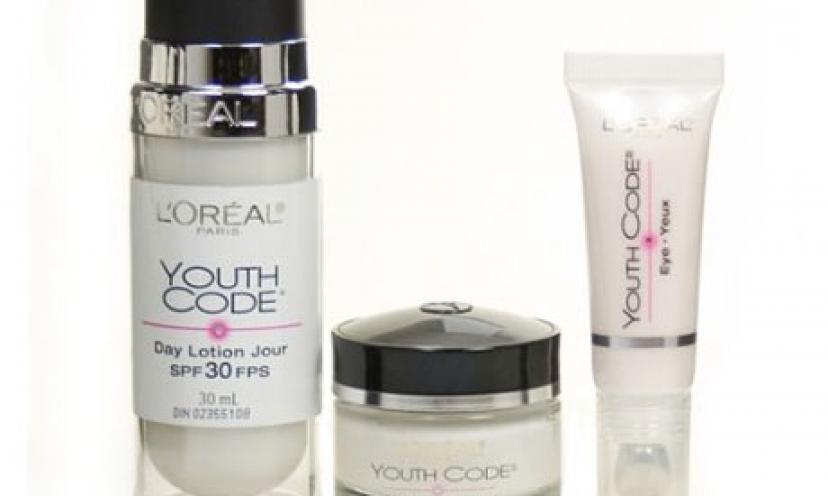 Enjoy 71% Off the L'Oreal Paris Youth Code Regenerating Skincare Kit!