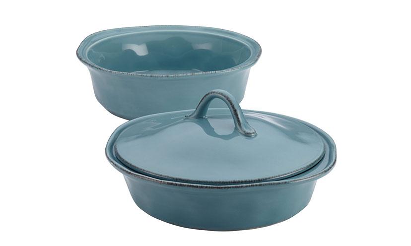 Save 64% Off On A Rachael Ray Cucina Stoneware Three-Piece Casserole Set!