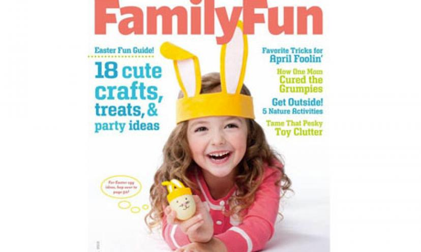 Get A FREE Subscription to FamilyFun Magazine!