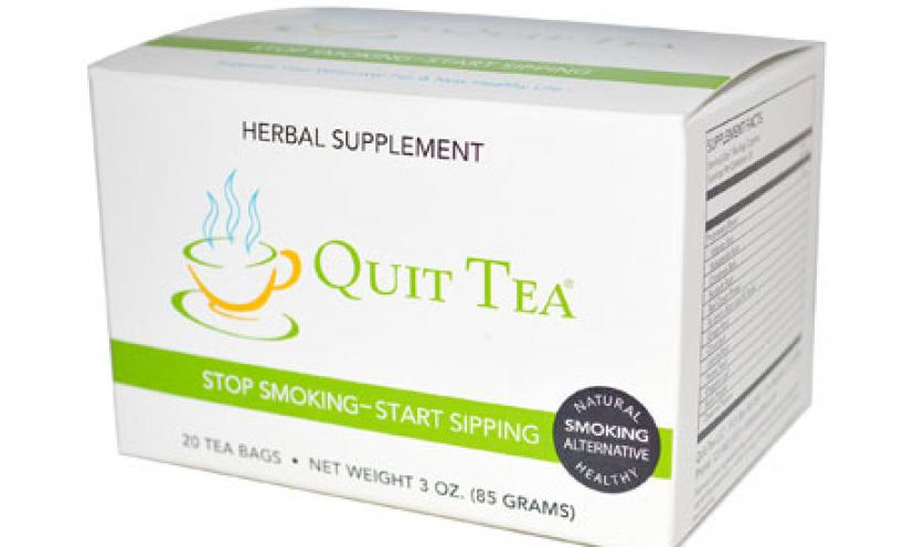 Quit Smoking Now With a FREE Quit Tea Sample!