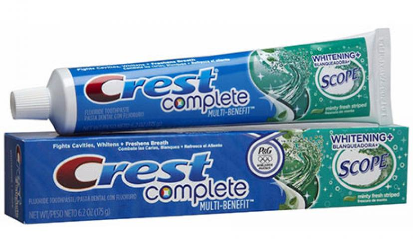 Save $0.50 Off One Crest Toothpaste!