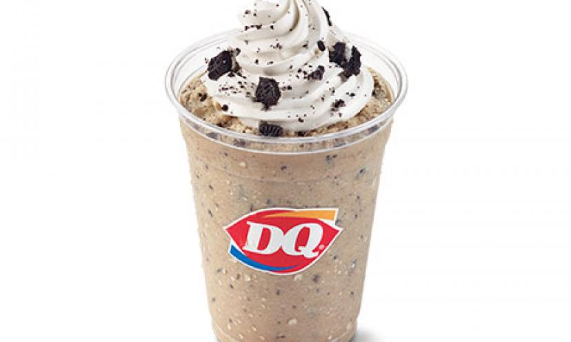 Get a FREE Oreo Frappe at Dairy Queen Today ONLY!