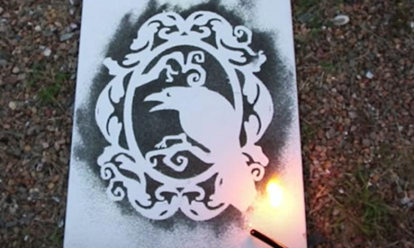 Learn How To Paint With Gun Powder!