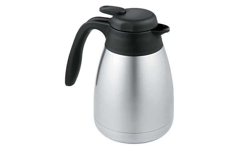 Save 37% Off On A Thermos Vacuum Insulated Stainless Steel Carafe!