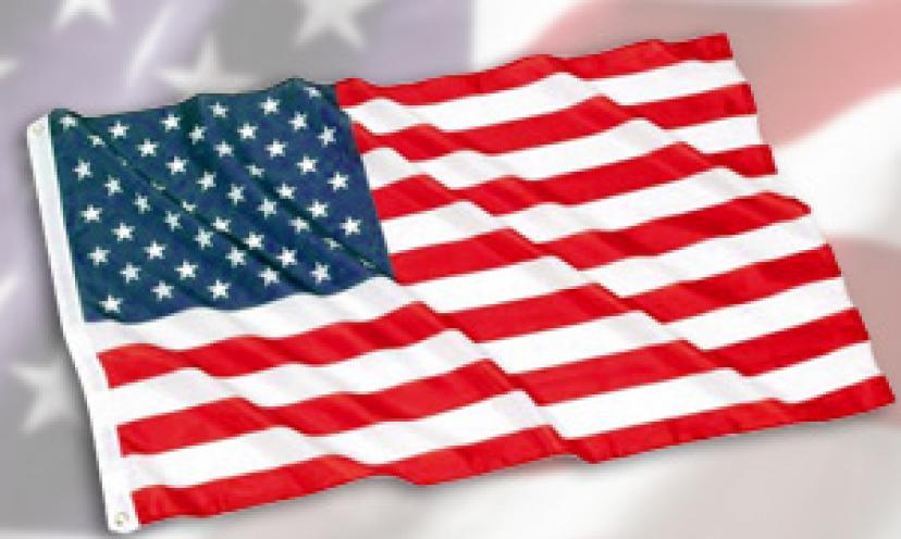 American Flag – 3×5 Foot (Standard Size) – Limit of 8