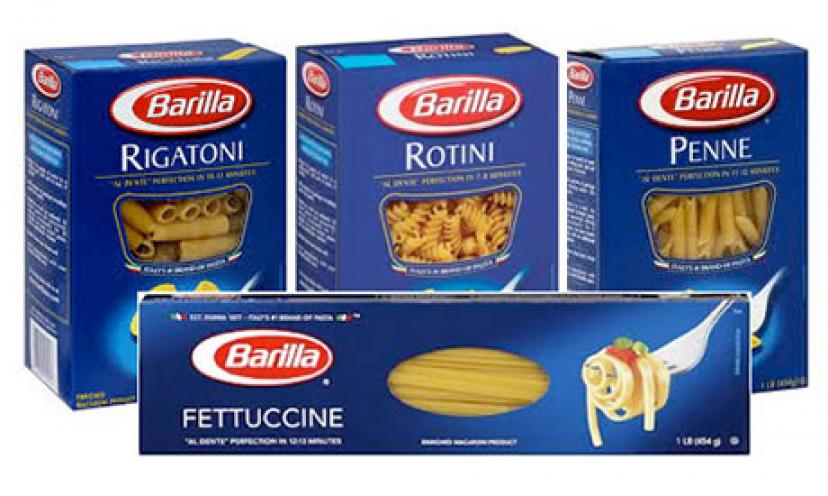 Get $1.00 Off Any Four Boxes of Barilla Blue Box Pasta!