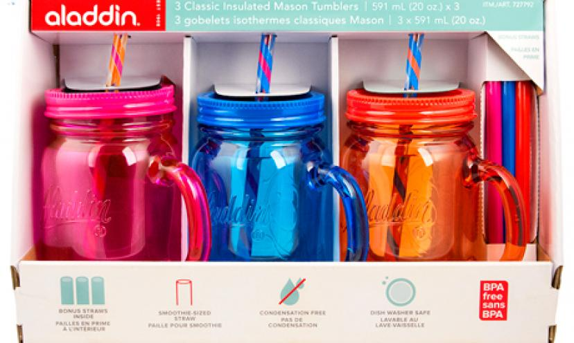 Get a Free Aladdin plastic Mason Jar!