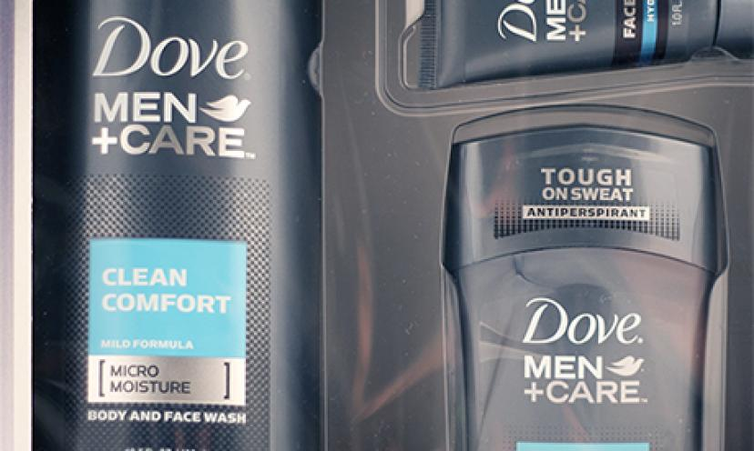Get your FREE Dove Men+Care Products!