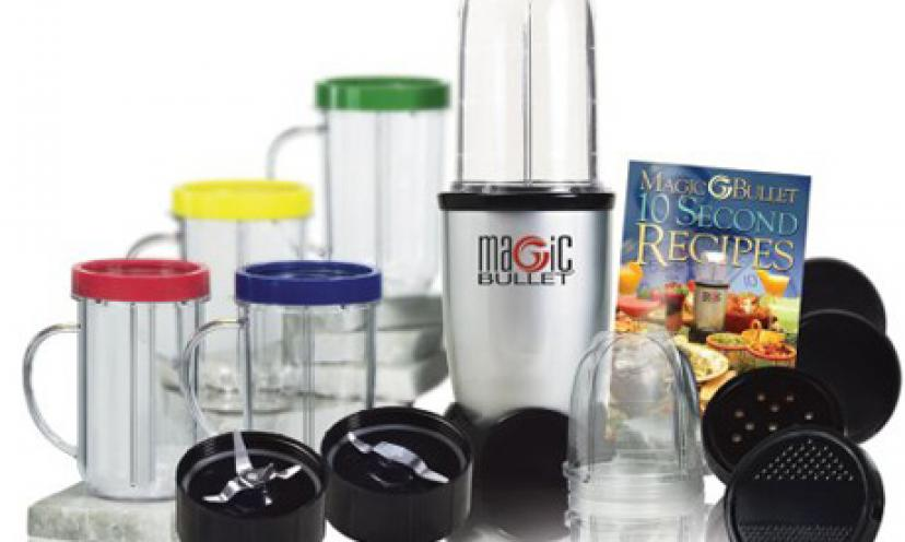 Save 24% on a Magic Bullet Deluxe 26-Piece Mixer and Blender!