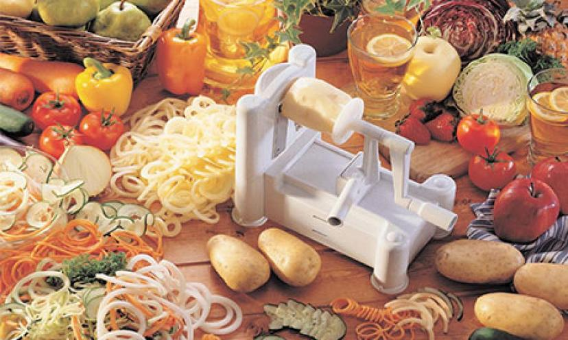 Enjoy 17% Off The Paderno World Cuisine Tri-Blade Plastic Spiral Vegetable Slicer!