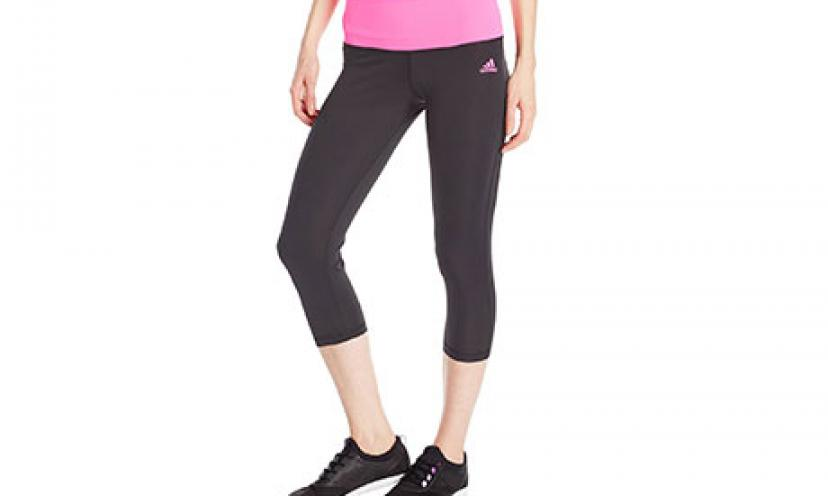 Adidas Performance Women's Mid-Rise 3/4 Tights! Great Deals!