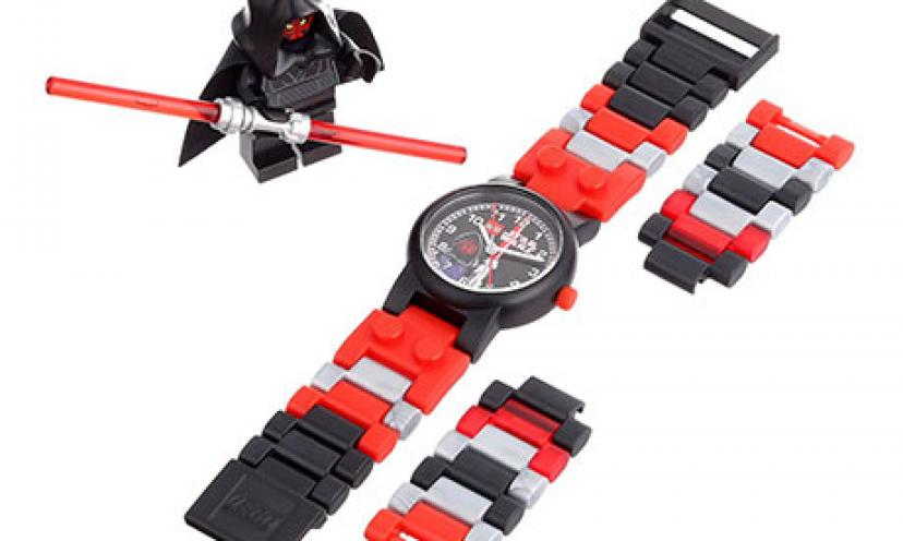 Save 38% Off on LEGO Kids' Star Wars Darth Maul Plastic Watch!