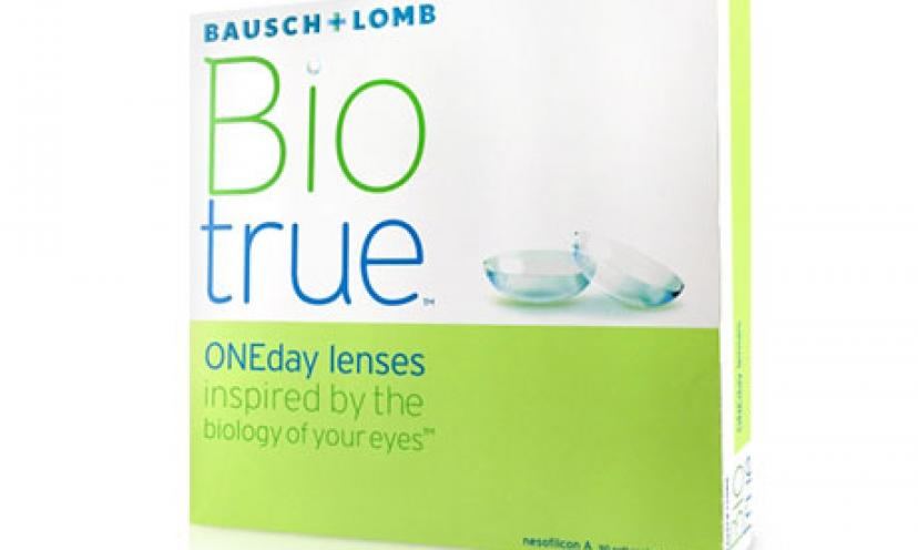 Get a FREE trial of Bausch + Lomb Biotrue ONEday Contact Lenses!
