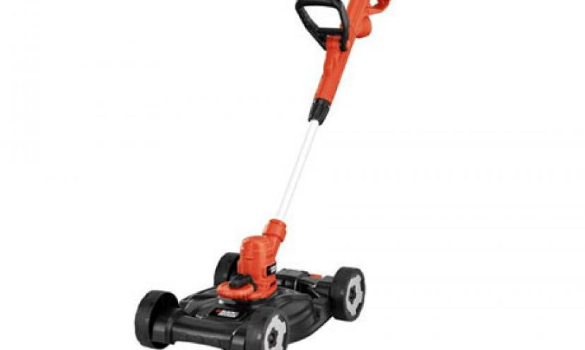 Get 28% Off on the Black & Decker 3-in-1 Trimmer/Edger and Mower!