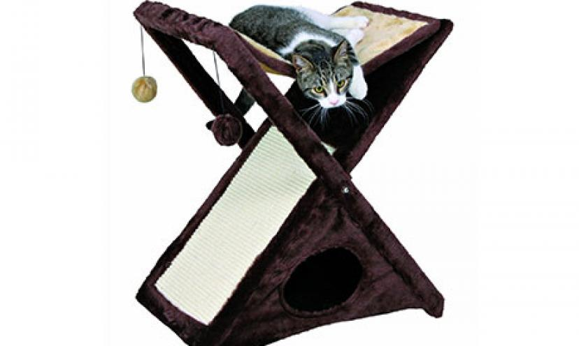 Save 37% Off on TRIXIE Pet Products Miguel Cat Scratching Tower!