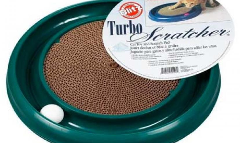 Save 55% on a Bergan Turbo Scratcher Cat Toy!