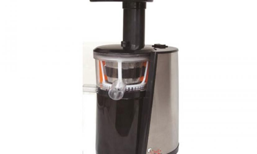 Enjoy 80% Off the Chef's Star Slow Masticating Juicer!
