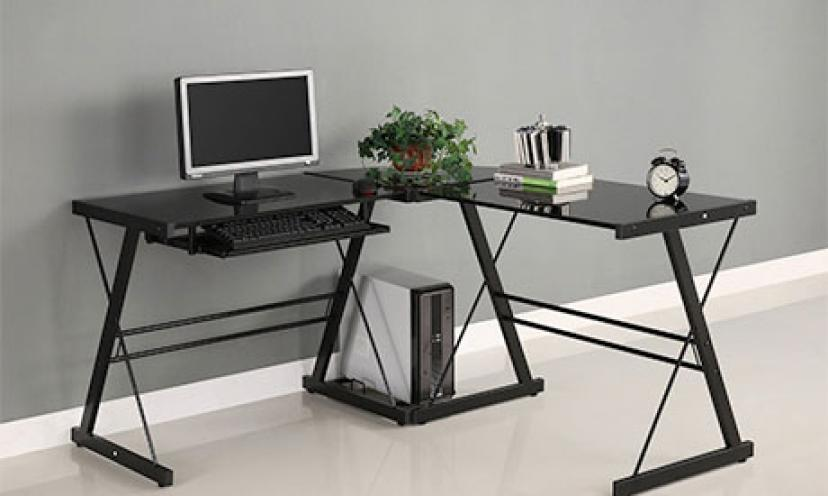 Enjoy $158.01 Off on the Walker Edison Soreno 3-Piece Corner Desk!