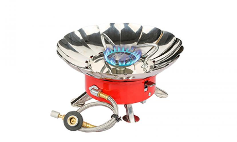 Save 37% Off on Etekcity E-Gear Portable Windproof Butane Outdoor Stove!