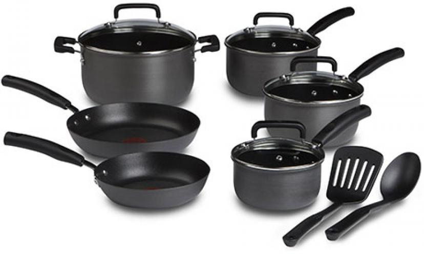 Save 49% on T-fal Signature Nonstick Heat Indicator Cookware Set!