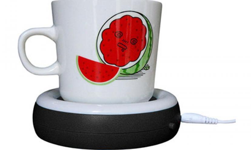 Get 30% Off on this Desktop USB Heated Coffee/Tea Mug Warmer!