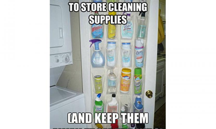 LIFE HACK: Shoe Rack for Cleaning Supplies!