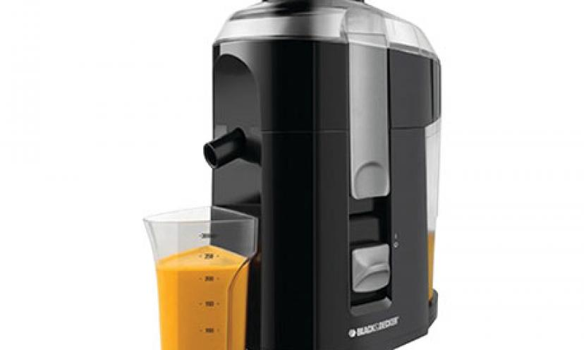 Save 40% Off on the Black & Decker Fruit and Vegetable Juice Extractor!