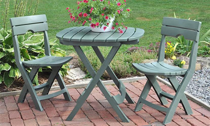Save 41% on Adams Manufacturing Quik-Fold Cafe Bistro Set!