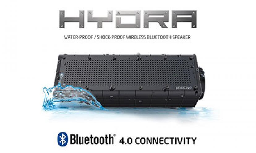 Save $99.05 on Photive Hydra Waterproof Bluetooth Speaker!