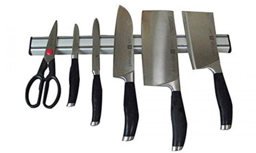 Save 53% Off on Ouddy Aluminum Magnetic Knife Bar!