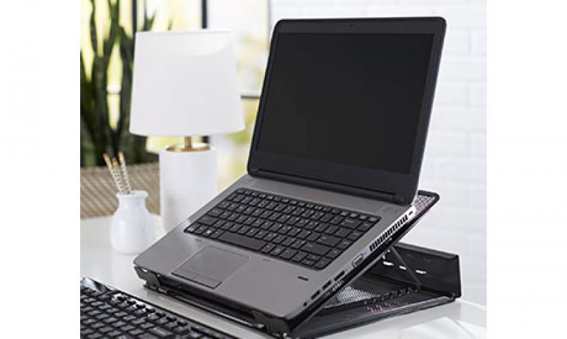 Get 40% Off on AmazonBasics Ventilated Adjustable Laptop Stand!