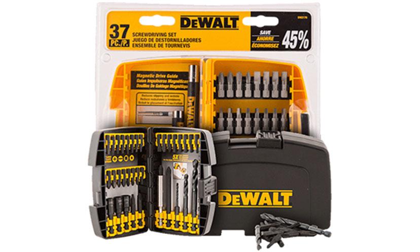 Get your Free DeWalt Drill Bits!