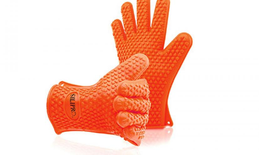 Enjoy 48% Off on Silipro Heat Resistant Grilling Silicone BBQ Gloves!