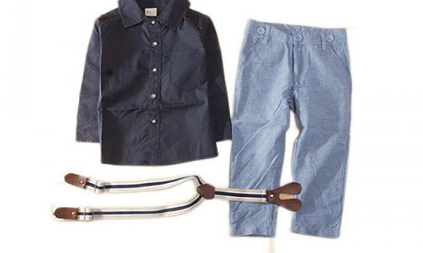 Save 74% Off The StylesILove Baby Boy T-Shirt, Suspender Straps, and Pants!