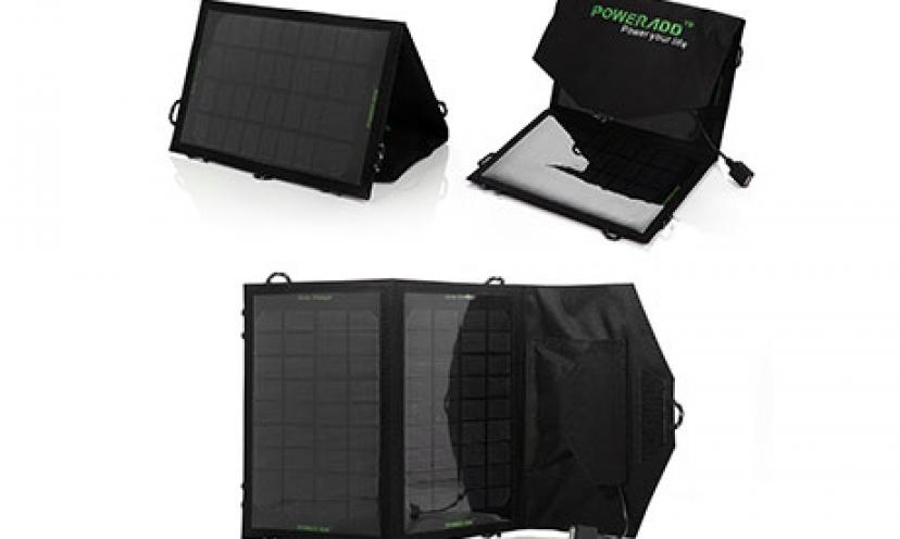Save 71% on the Poweradd Foldable Solar Panel Portable Solar Charger!
