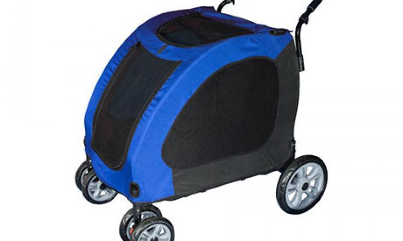 Save 44% on Pet Gear Expedition Pet Stroller!